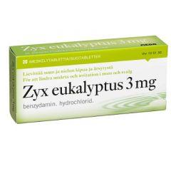 ZYX EUKALYPTUS 3 mg imeskelytabl 20 fol