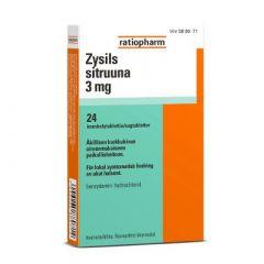 ZYSILS SITRUUNA 3 mg imeskelytabl 24 fol