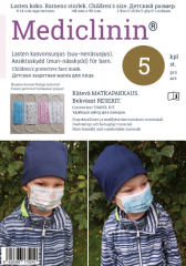 Mediclinin lasten kasvonsuojus 3 krs 5 kpl