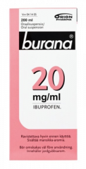 BURANA 20 mg/ml oraalisusp 200 ml